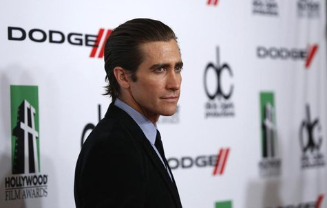 Actor Jake Gyllenhaal poses at the 17th Annual Hollywood Film Awards Gala at the Beverly Hilton Hotel in Beverly Hills, California October 2