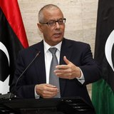 Libya's Prime Minister Ali Zeidan speaks during a news conference in Tripoli March 8, 2014. REUTERS/Ismail Zitouny