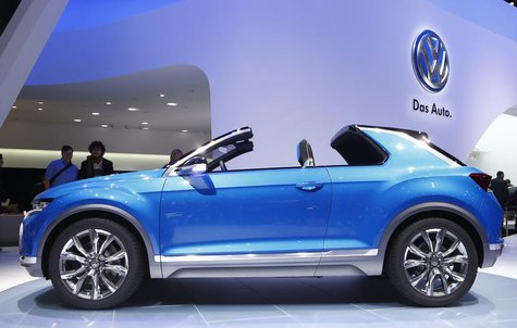Volkswagen T-ROC concept car is pictured during the media day ahead of the 84th Geneva Motor Show at the Palexpo Arena in Geneva March 4, 20