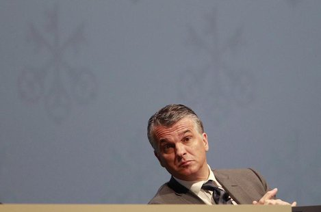 Sergio Ermotti, CEO of Swiss bank UBS, attends the general shareholders meeting in Zurich May 2, 2013. REUTERS/Ruben Sprich
