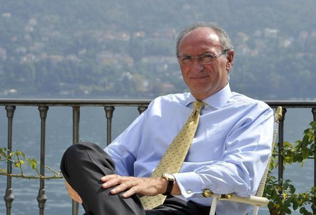 Unicredit bank Chief Executive Federico Ghizzoni is pictured during an interview at the Ambrosetti workshop in Cernobbio, next to Como, Sept