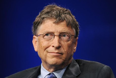 "Bill Gates, Microsoft Chairman and Co-Chair and Trustee of the Bill & Melinda Gates Foundation, takes part in a panel discussion titled ""Inv"