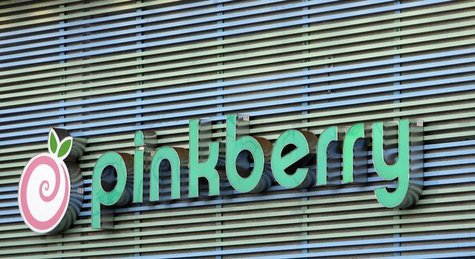 The Pinkberry logo is seen in Los Angeles August 13, 2008. REUTERS/Mario Anzuoni