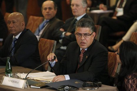 Venezuela's Foreign Minister Elias Jaua attends an extraordinary session of the Union of South American Nations (UNASUR) in Santiago, March