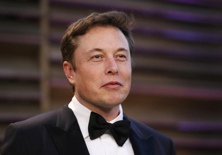 Chief Executive of SpaceX and Tesla Motors Elon Musk arrives at the 2014 Vanity Fair Oscars Party in West Hollywood, California March 2, 201