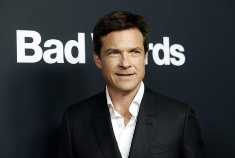 "Director and cast member Jason Bateman poses at the premiere of ""Bad Words"" at the Arclight Cinerama Dome in Los Angeles, California March 5"