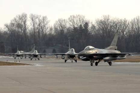 F-16 Fighting Falcons at the Selfridge Air National Guard Base