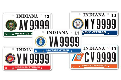 Indiana Vet Plates