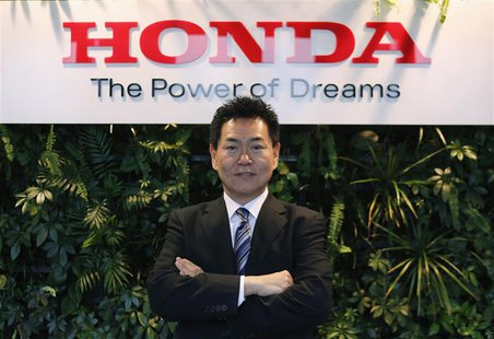 Yasuhisa Arai, Senior Managing Officer and Director, Chief Officer of Motorsports, Honda R&D Co. poses at the Honda Motor Co's headquarters
