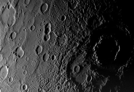 A view of the planet Mercury?s rugged, cratered landscape is pictured in this Messenger Spacecraft image released by NASA on January 16, 200