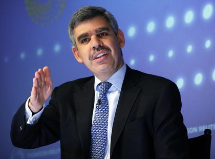 PIMCO's Chief Executive Officer and Co-Chief Investment Officer Mohamed El-Erian speaks during an interview at Thomson Reuters in New York M