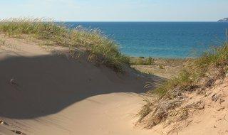 A dune along the Lake Michigan shoreline.