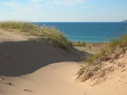 A dune along the Lake Michigan shoreline.