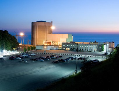Palisades Nuclear plant on the shore of Lake Michigan