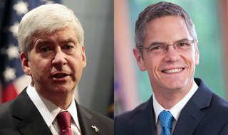 Rick Snyder and Mark Schauer