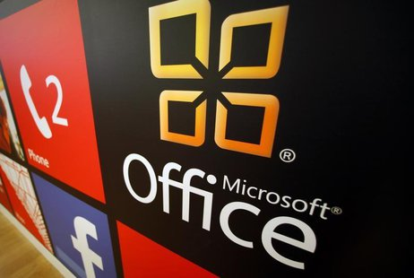 A Microsoft Office logo is shown on display at a Microsoft retail store in San Diego January 18, 2012. REUTERS/Mike Blake