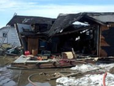 Branch County Home ripped apart and set on fire by suspected natural gas leak.  It remains under investigation.