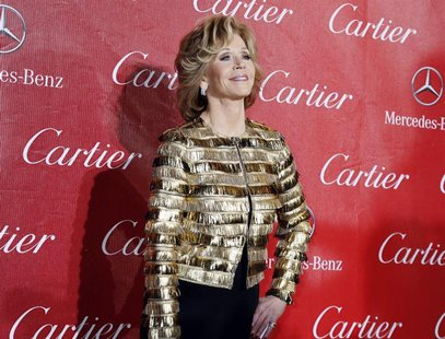 Actress Jane Fonda arrives at the 2014 Palm Springs International Film Festival Awards Gala in Palm Springs, California January 4, 2014. REU