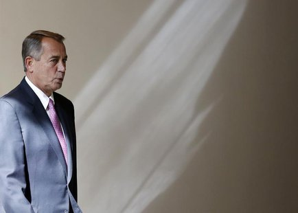 U.S. Speaker of the House John Boehner walks to his weekly news conference on Capitol Hill in Washington, February 6, 2014. REUTERS/Larry Do