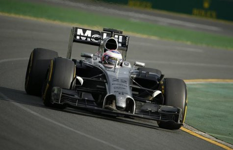 McLaren Formula One driver Jenson Button of Britain takes a corner during the Australian F1 Grand Prix at the Albert Park circuit in Melbour