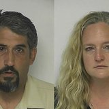 Steven and Christine Oswald (Photo from: Kewaunee County Jail).