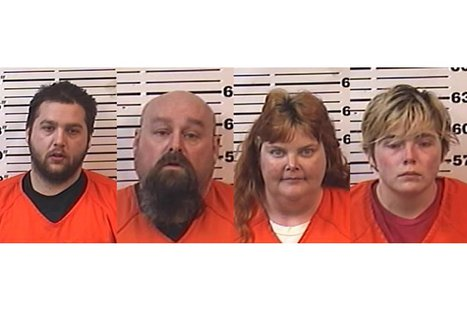 From left to right: Justin Bey, Raymond Jones, April Jones, Samantha McClellan (Photo from: Forest County Jail).