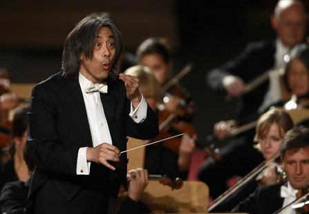 U.S. Director Kent Nagano conducts the Bavarian State Orchestra during a concert for Pope Benedict XVI in Paul VI hall at the Vatican Octobe
