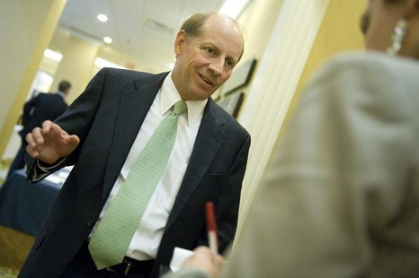 Zions Bancorp CEO Harris Simmons talks to a reporter at the American Banker Regulatory Symposium in Washington September 20, 2011. REUTERS/J