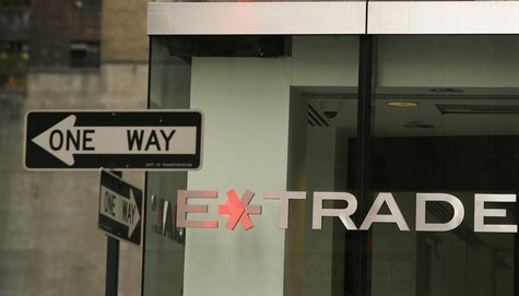A sign is seen outside the E*Trade offices in New York November 12, 2007. REUTERS/Lucas Jackson