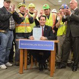 Governor Walker signs highway funding bill