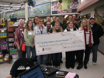 2014 WDEZ Country Cares for St. Jude's staff and volunteers announce grand total raised this year.