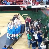 Notre Dame celebrates second straight state championship