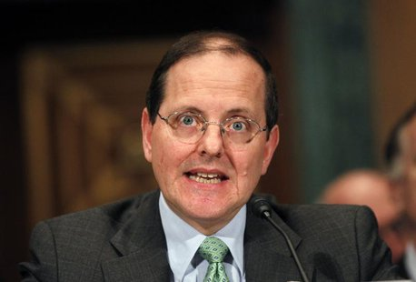 Edward DeMarco, the regulator of Fannie Mae and Freddie Mac, testifies before the Senate Banking Committee hearing on oversight of the Feder