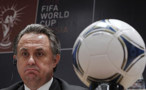 Russian Sports Minister Vitaly Mutko attends a news conference in Moscow September 30, 2012. REUTERS/Maxim Shemetov
