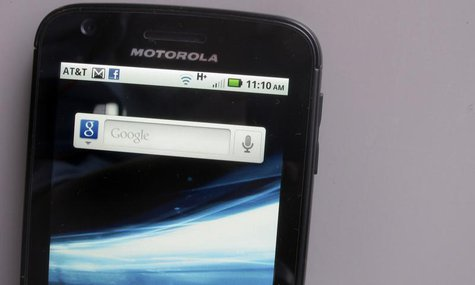 A Motorola Droid phone is seen displaying the Google search app in New York August 15, 2011. REUTERS/Brendan McDermid