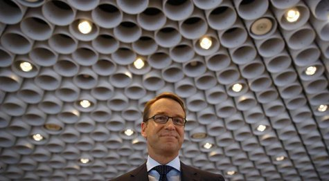Jens Weidmann, President of Germany's federal reserve bank Bundesbank arrives for the bank's annual news conference in Frankfurt, March 13 2