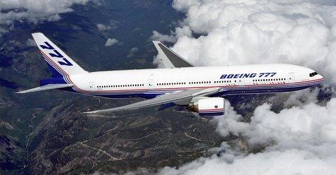 A Boeing 777.