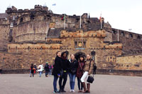 SDSU student Danielle Laughter, far right, visits Edinburgh Castle in Scotland. The Study Abroad Office has received more than 340 requests for information on opportunities this school year.