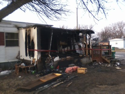 Wahpeton mobile home fire