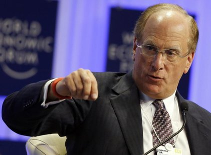 Chairman and Chief Executive of BlackRock Laurence Fink speaks during a session at the World Economic Forum (WEF) in Davos January 25, 2014.
