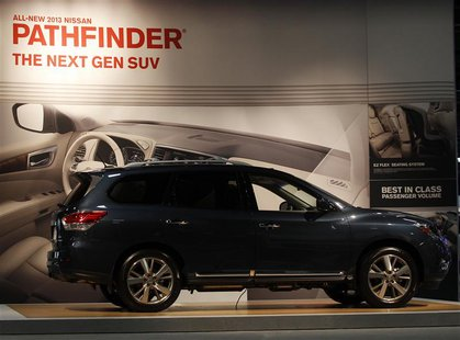 A 2013 Nissan Pathfinder SUV is shown at the Washington Auto show February 6, 2013. REUTERS/Gary Cameron