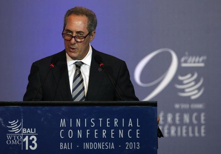 U.S. Trade Representative Michael Froman speaks during a plenary session of the ninth World Trade Organization (WTO) Ministerial Conference