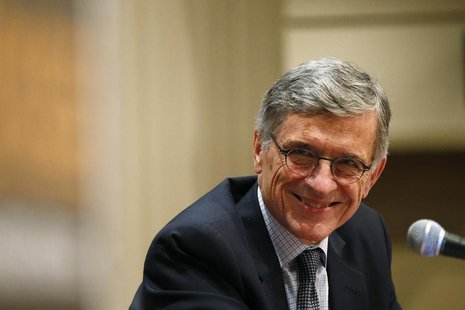 Federal Communications Commission (FCC) Chairman Thomas Wheeler smiles during a town hall meeting in Oakland, California January 9, 2014 REU