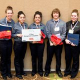 The management/entrepreneurship team from Branch Area Careers Center in Coldwater at the Michigan ProStart Competition held on March 23 and 24, 2014, at the Crowne Plaza Hotel in Lansing.