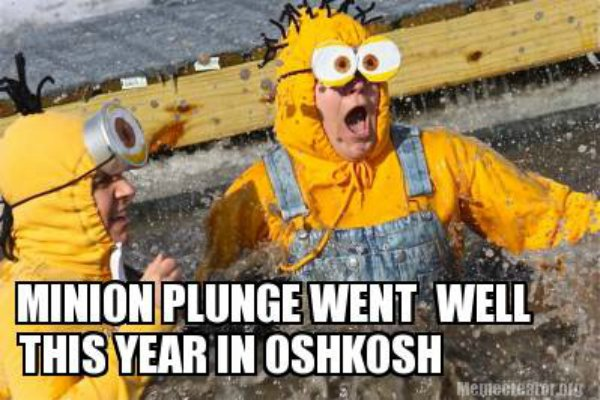 Minion Plunge Went Well This Year