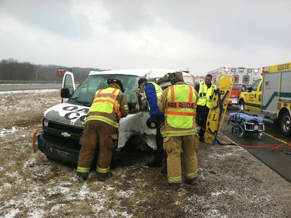 3-25-14 I-70 Accident photo 1 courtesy Indiana State Police