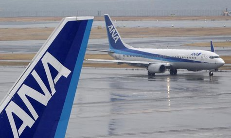 All Nippon Airways' (ANA) planes are seen at Haneda airport in Tokyo February 14, 2014. REUTERS/Yuya Shino