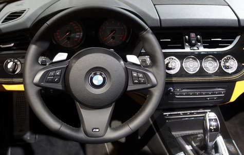 The dashboard of a BMW Z4 sDrive35is car is displayed on media day at the Paris Mondial de l'Automobile October 1, 2010. REUTERS/Jacky Naege