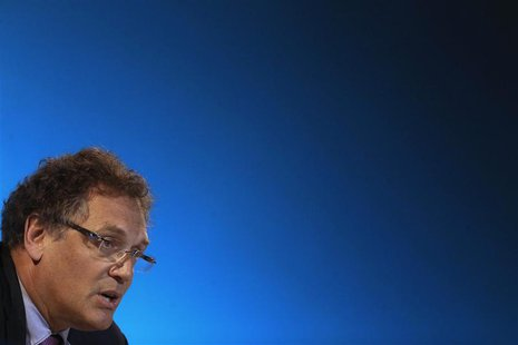 FIFA Secretary General Jerome Valcke talks during a news conference at the Maracana stadium in Rio de Janeiro March 27, 2014. REUTERS/Ricard