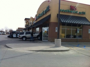 SUV that crashed into the front of the Moe's Southwest Grill off of 32nd Ave South copyright Midwest Communications, Inc.